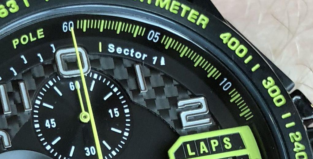 Formel 1 Rennstrecke 3 Sektoren Uhr
