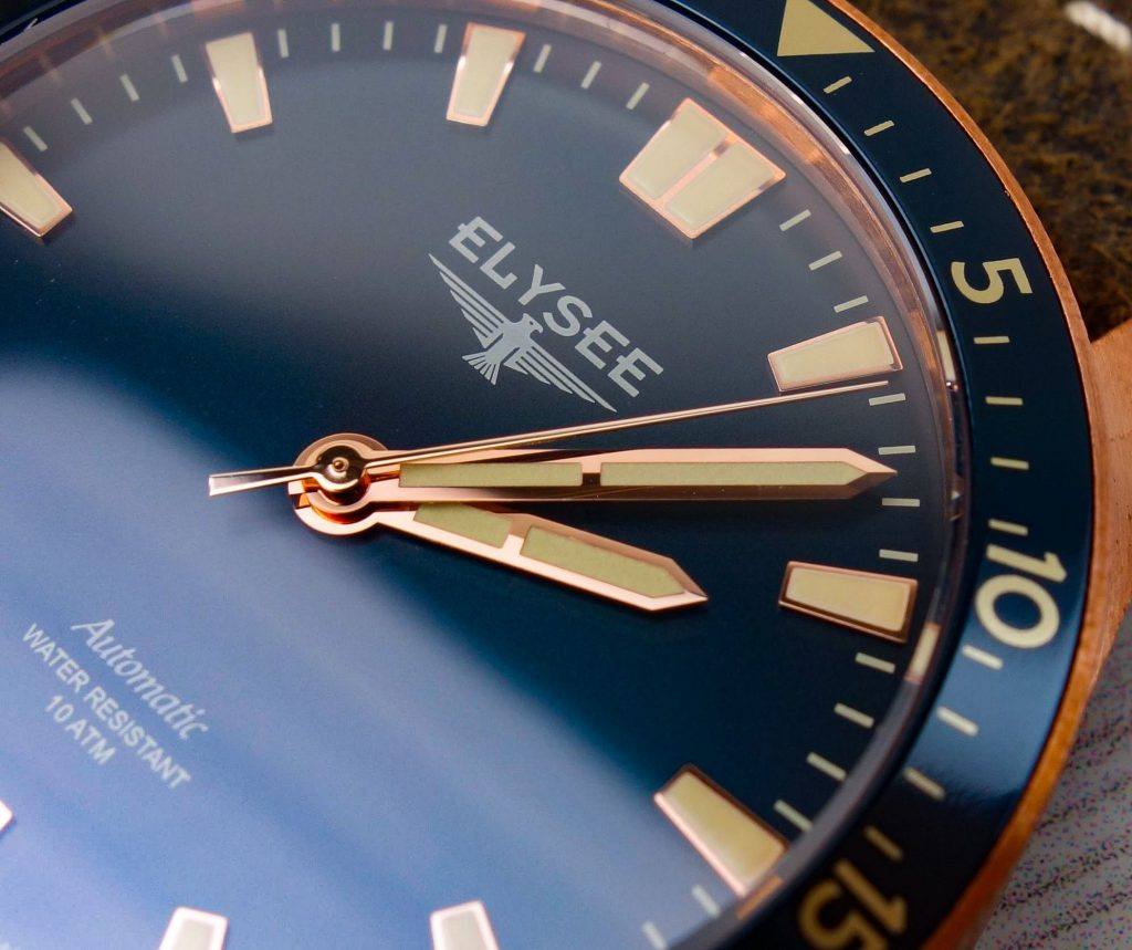 Goldene Zeiger Elysee Bronze Uhr