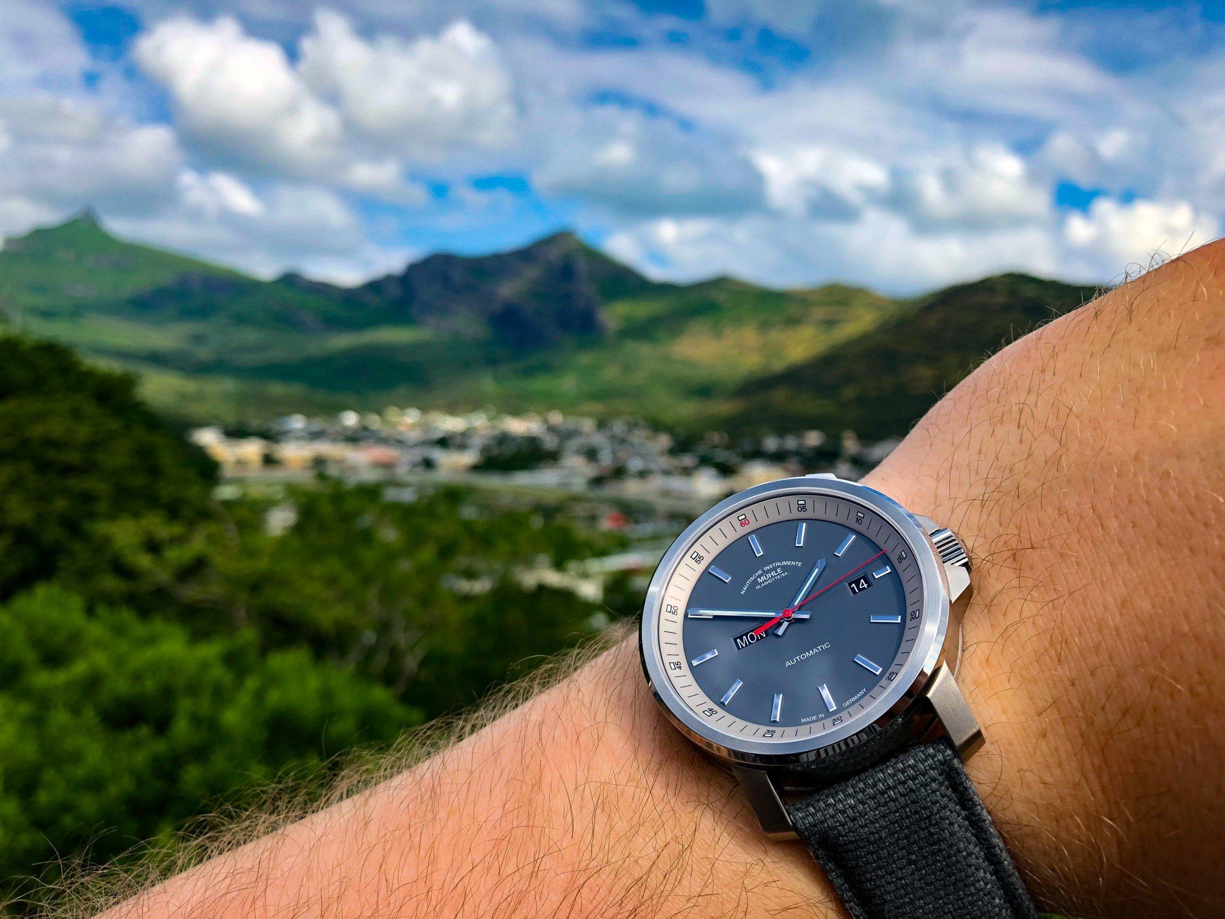 Mühle-Glashütte 29er Tag-Datum 2018 Gebirge Mauritius