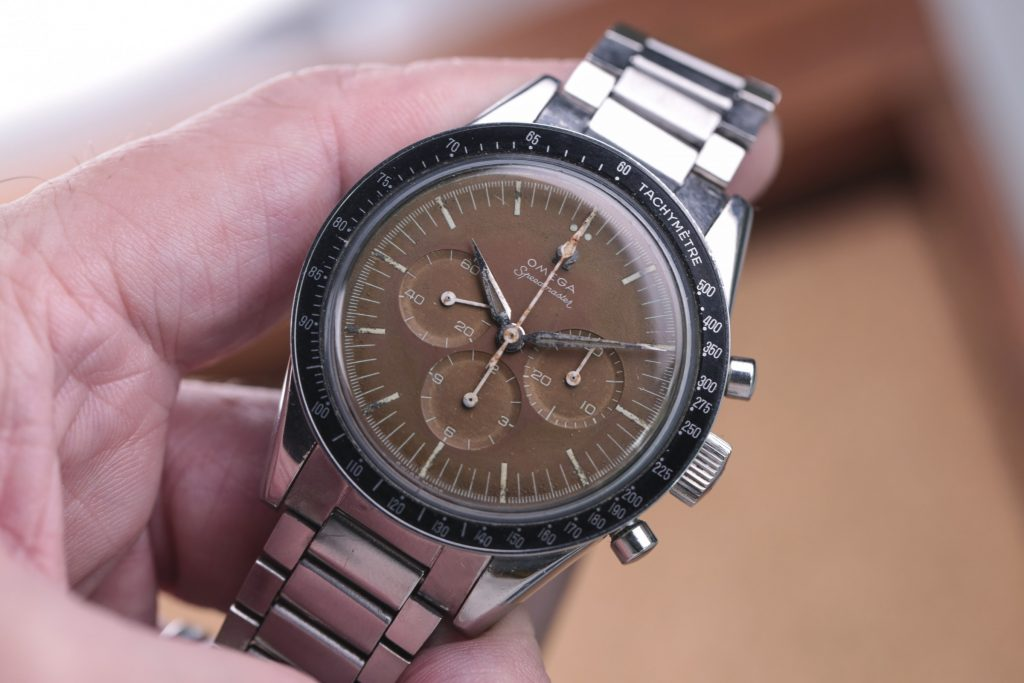 Omega Speedmaster Chocolate Tropical Ziffernblatt Vintage