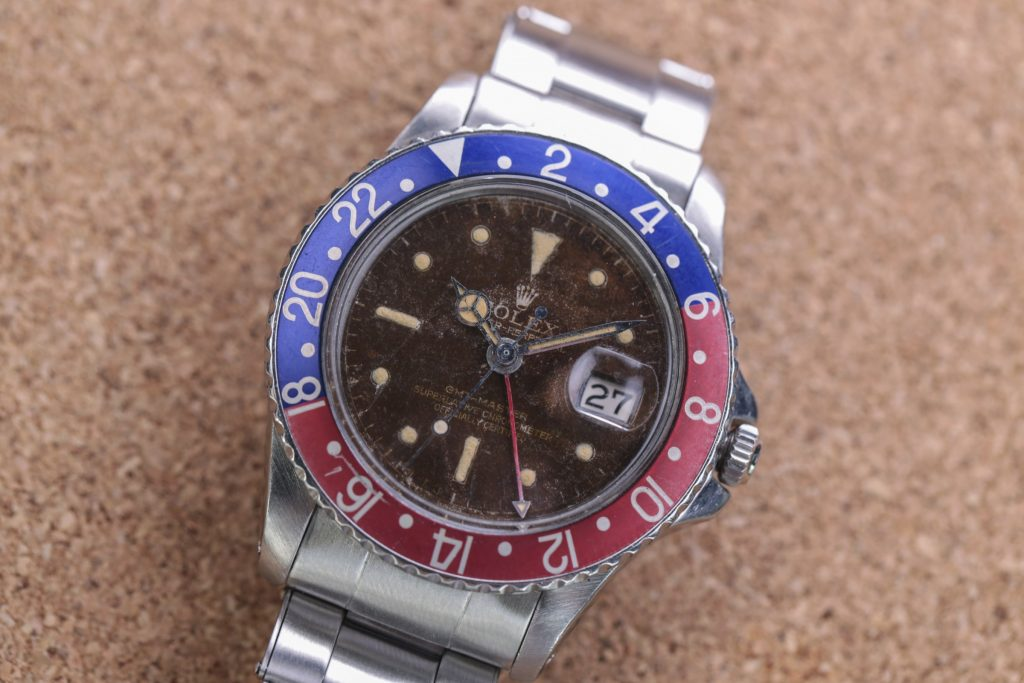 Rolex GMT Vintage Chocolate Tropical Ziffernblatt