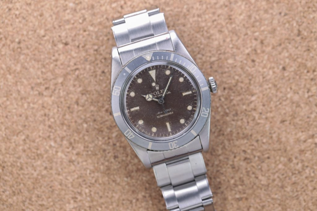 Rolex Submariner Chocolate Tropical Ziffernblatt Vintage Dial