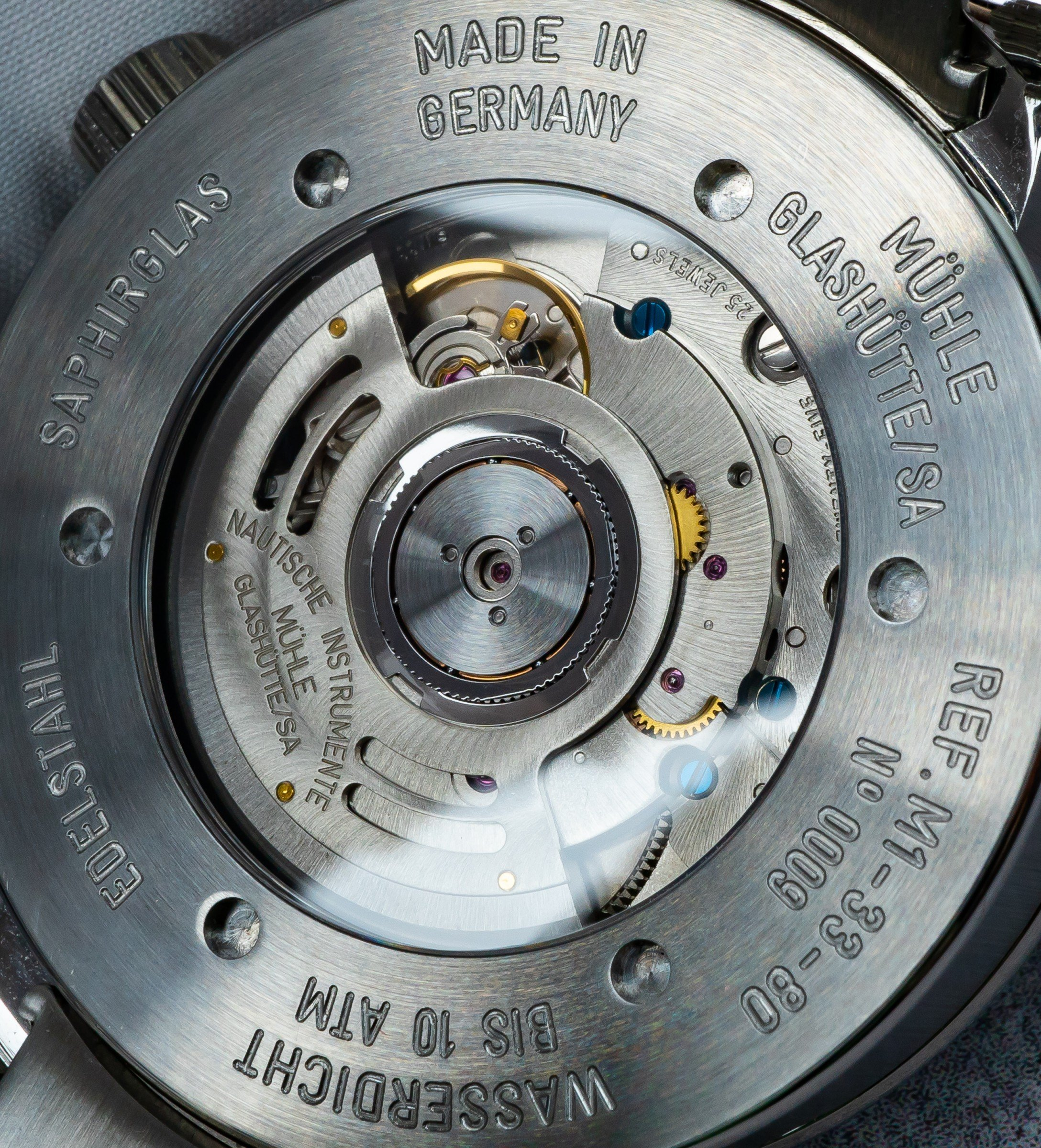 Sellita SW330-1 GMT Spechthalsregulierung Weltzeit Mühle-Glashütte