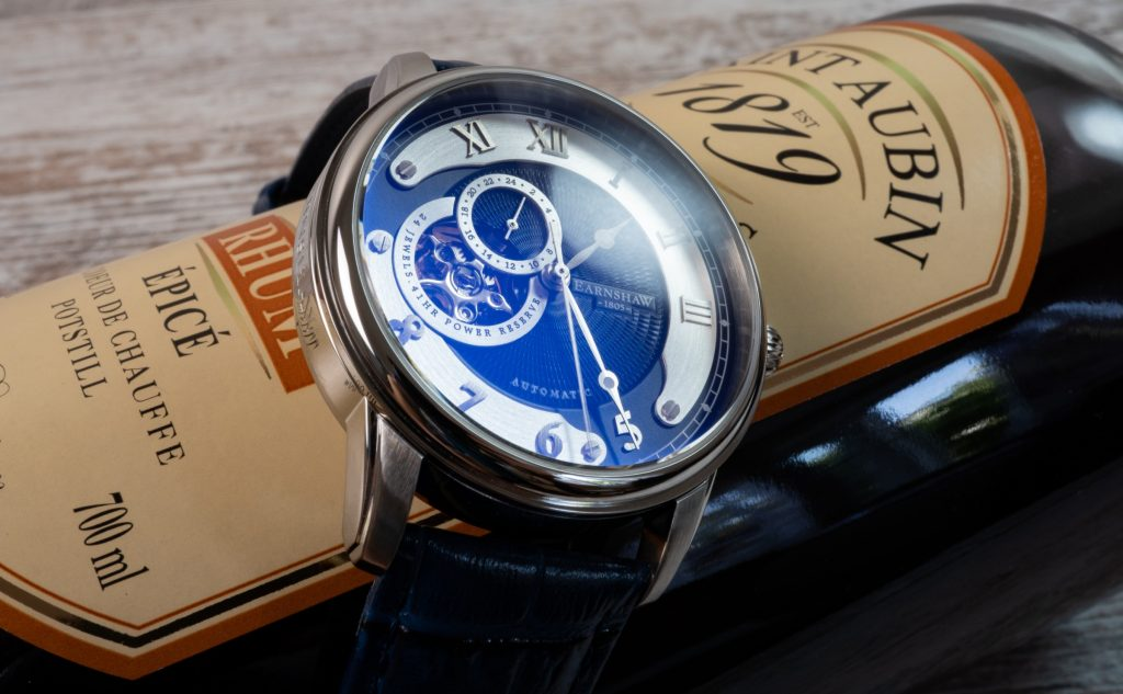 Thomas Earnshaw Uhr Precisto Longitude ES-8803 Entspiegelung blau