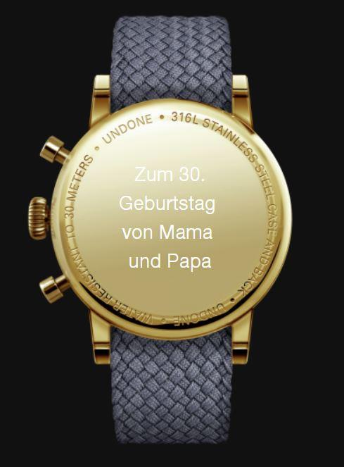 Uhr Gravieren Gehäuse Boden Geburtstag Hochzeit Abitur