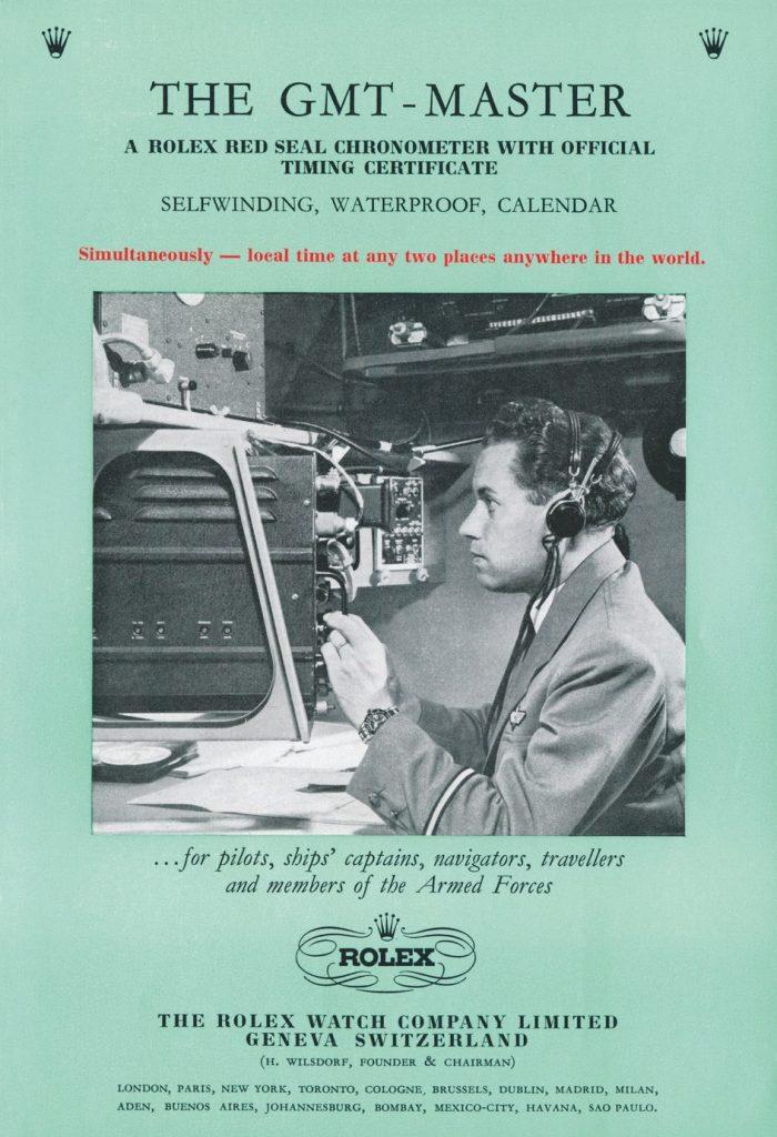Rolex GMT Master Broschüre 1956 Vintage
