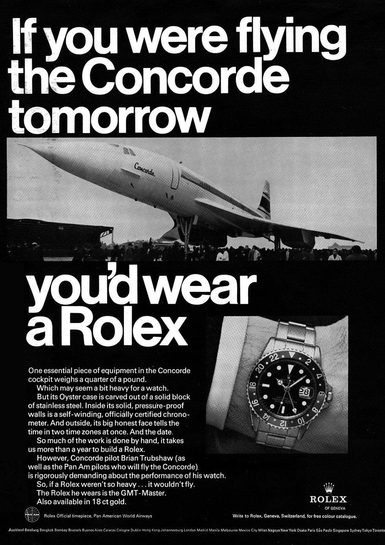 Rolex GMT Pilot Werbeanzeige Vintage 1969