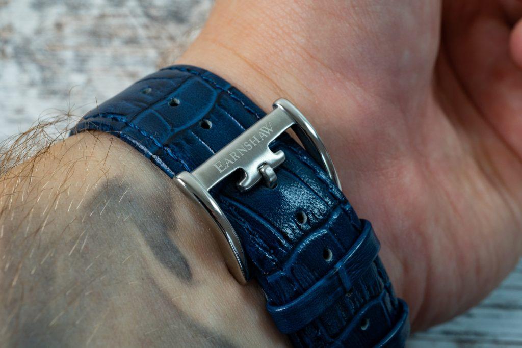 Thomas Earnshaw Uhr Precisto Longitude ES-8803 Lederband blau