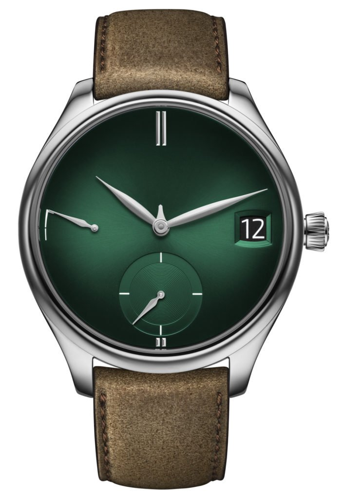 H. Moser Cie endeavour_perpetual_calendar_purity_cosmic_green_1800-0202_soldat_white_background