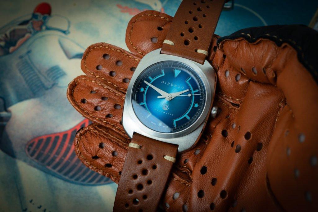 Racing LEderhandschuhe Uhr