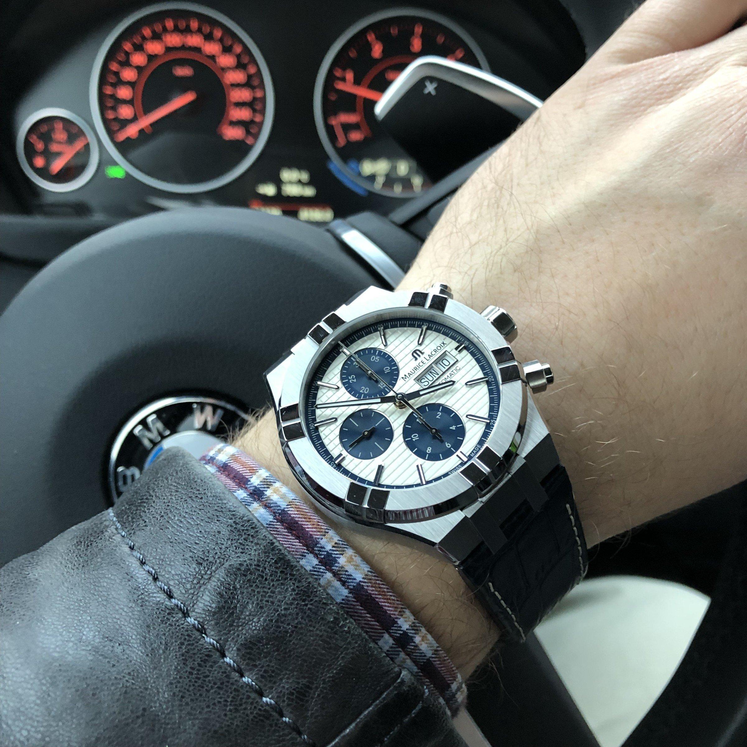Sportlicher Chronograph Maurice Lacroix Aikon BMW 3er