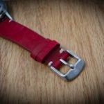 UNDONE Lederband Uhr rot