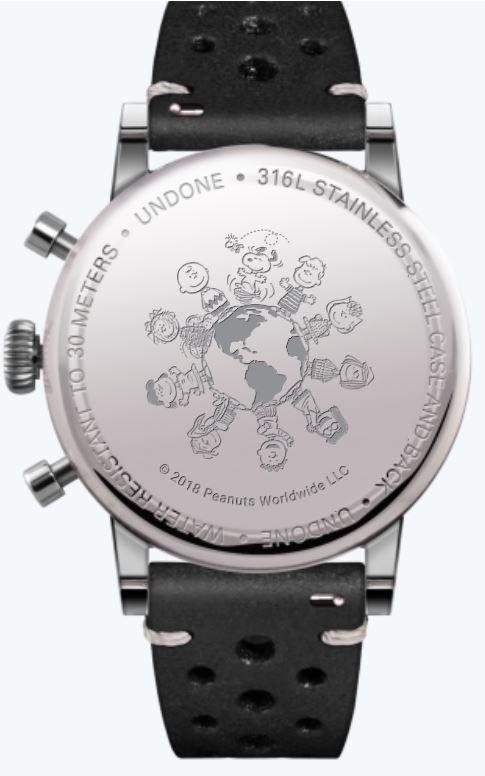 UNDONE Uhr Snoopy massiver Gehäuseboden Gravur Peanuts