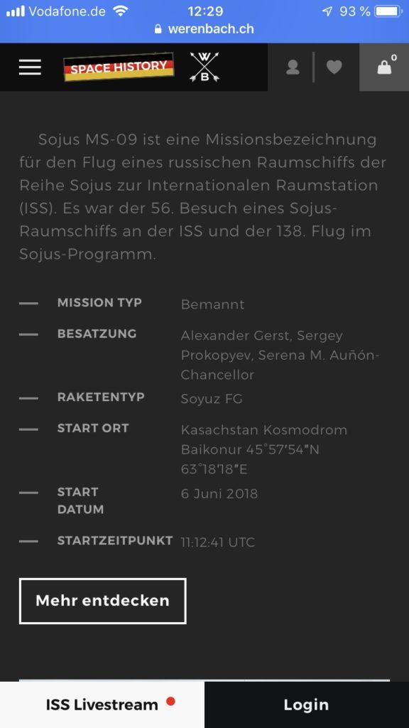 Werenbach MACH33 NFC Chip ISS Livestream (2)