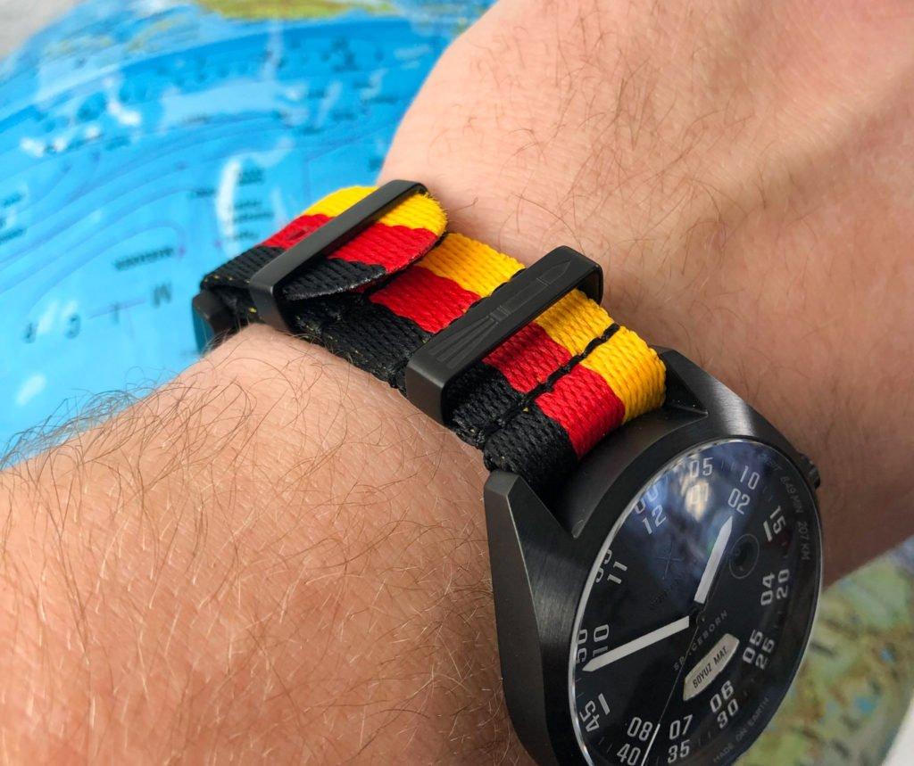 schwarz rot gold Deutschland Uhrenarmband-2