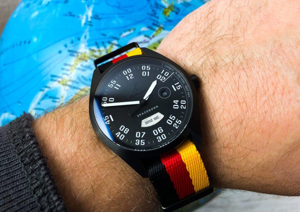 schwarz rot gold Deutschland Uhrenband Ersatzband Werenbach-2