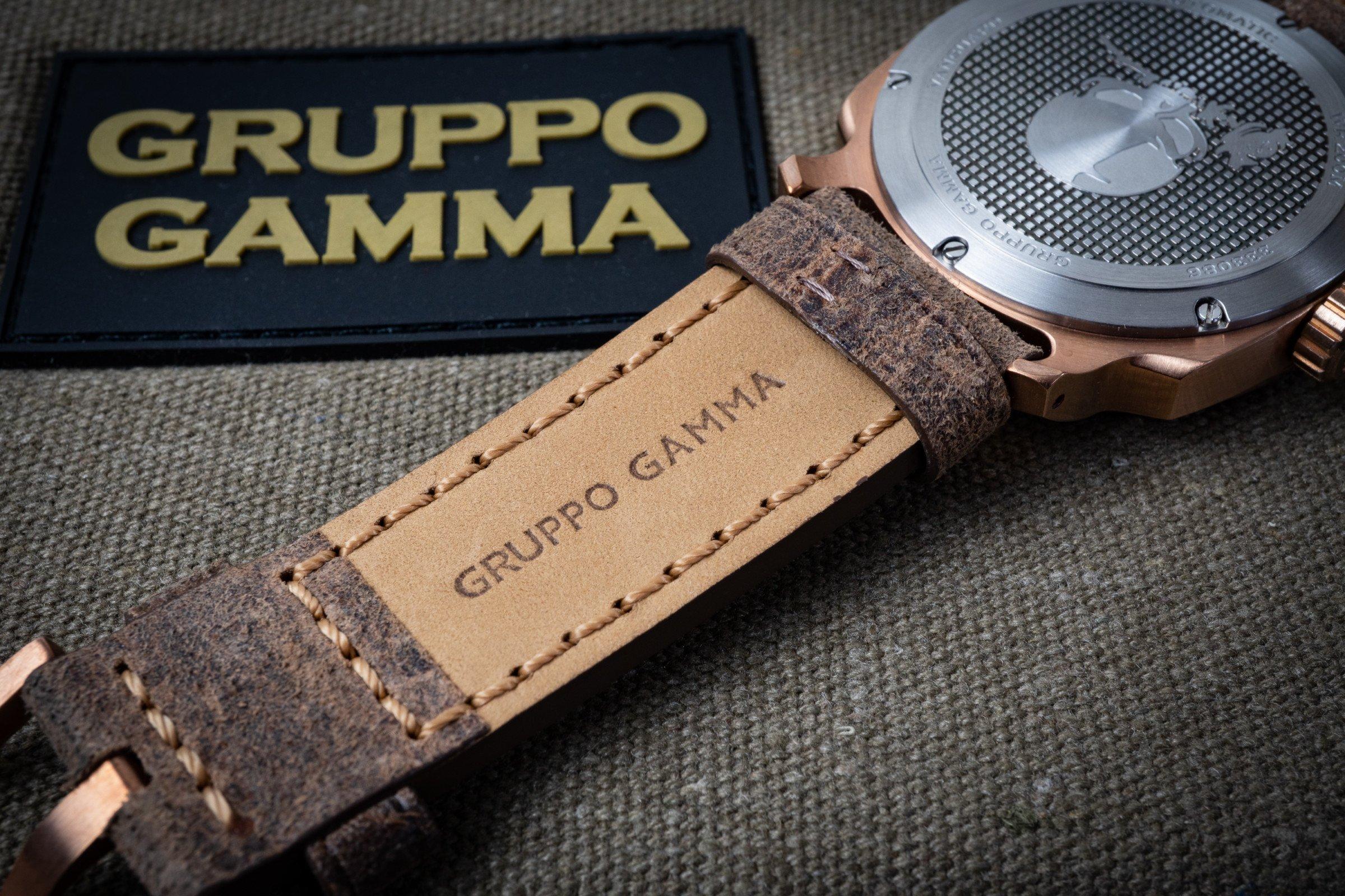 Gruppo Gamma Vanguard Retro AN-13 Bronze Lederband