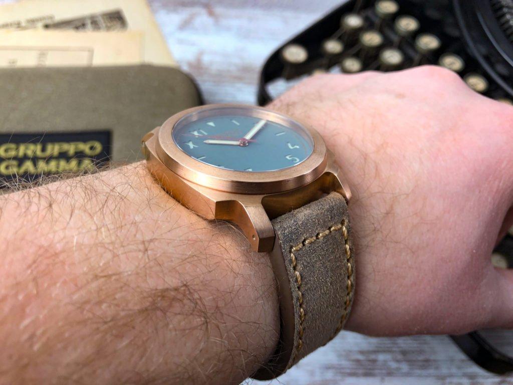 Gruppo Gamma Vintage Lederband Bronze AN13 Vanguard Wrist
