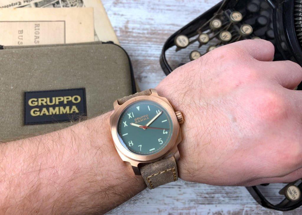 Gruppo Gamma Vintage Lederband Bronze AN13 Vanguard Wrist handgelenk