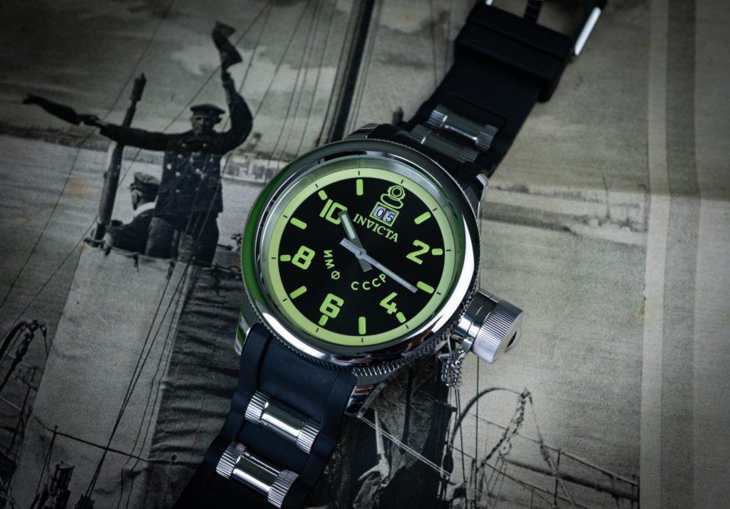 Russische U-Boot-Stil Uhr Retro