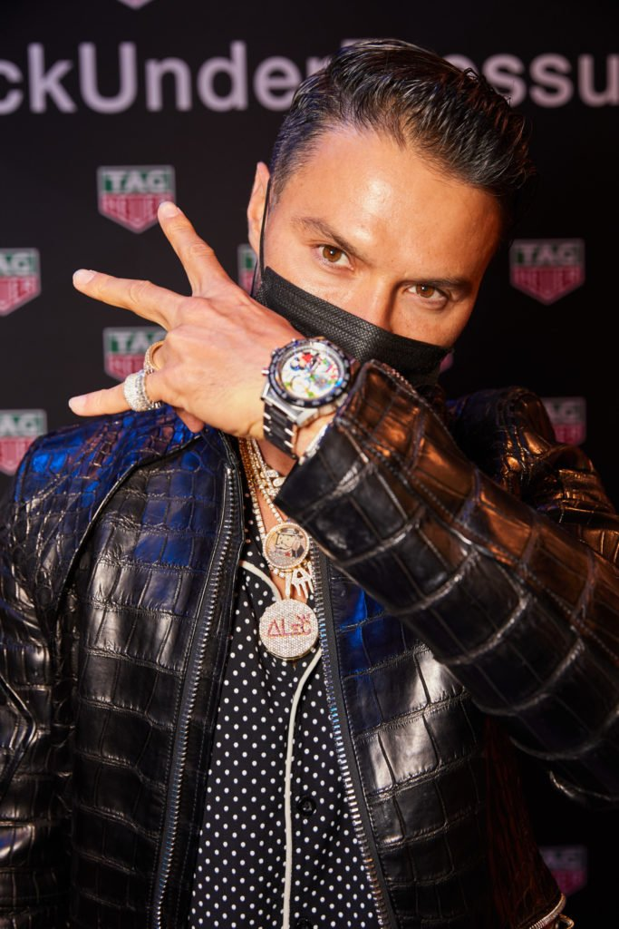 Alec Monopoly with his new TAG Heuer Carrera Special Edition