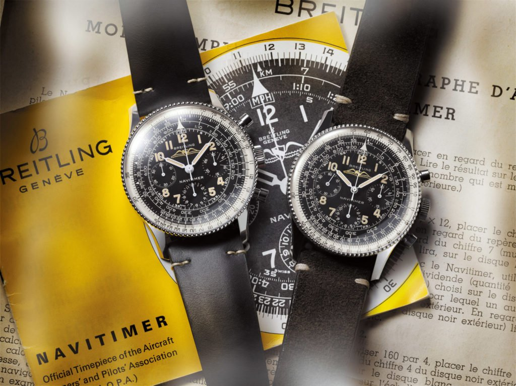 Breitling Navitimer_Ref_806_1959_Re-Edition_and_the_historical_Navitimer_Ref_806_from_1959_left_to_right_21694_14-03-19