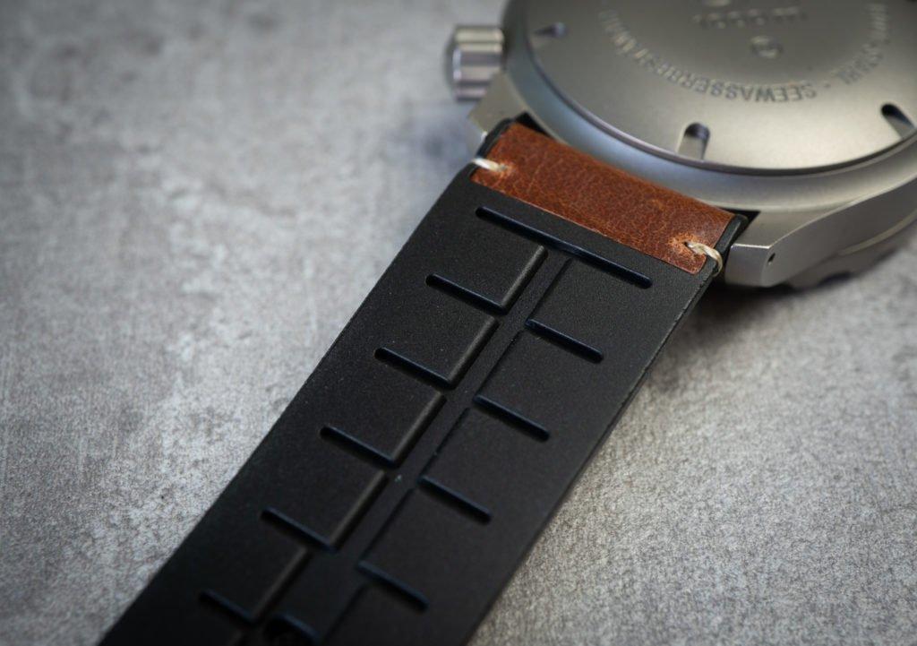 Schwarz Braun Kautschuk Lederband Ersatz für Sinn U1