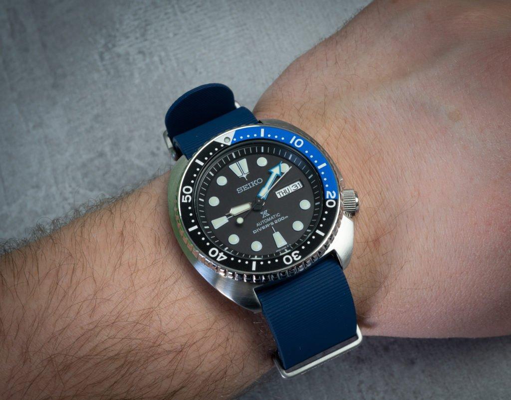 Seiko TUrtle Kunststoff Kautschuk Nato Uhrenband