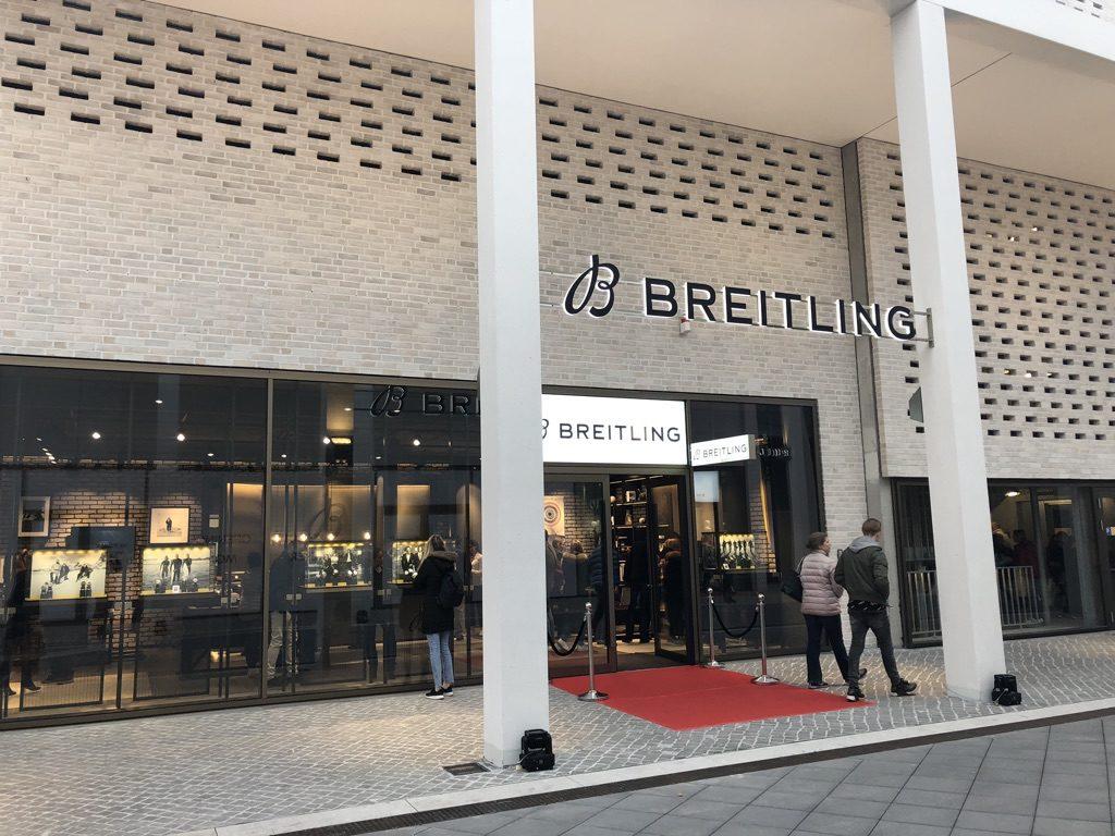 """8231023fc23e18 April 2019 nach Feierabend in das frisch eröffnete Breitling-Geschäft. Lohnt  sich der Besuch  Darauf schon mal vorab ein ganz klares """"Kommt drauf an!"""" …"""