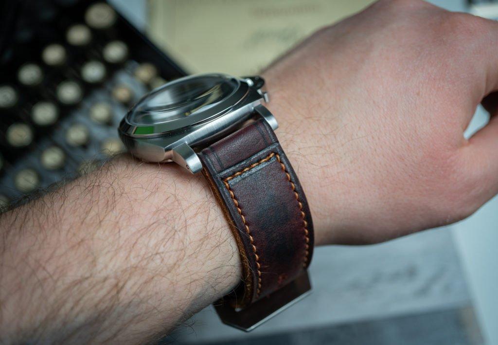 Uhrenband Leder Burgund Rot Panerai Luminor 1950 Fiddy