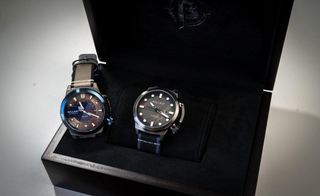 XL Uhrenbox Furnierholz