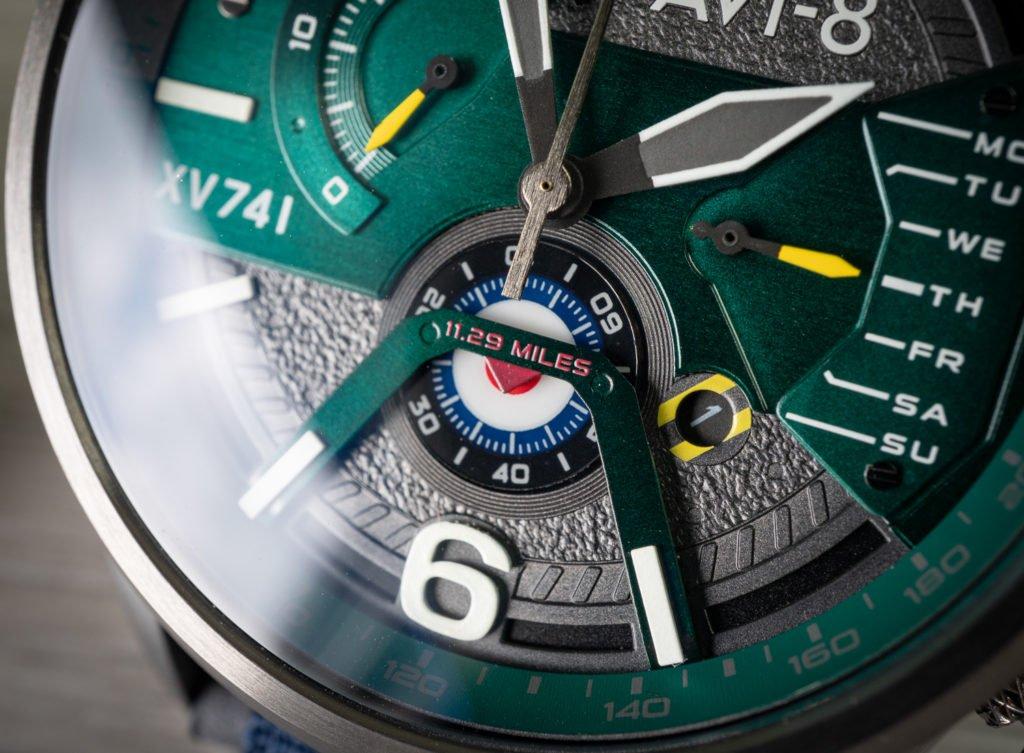 Chronograph Datum Scheibe AVI-8