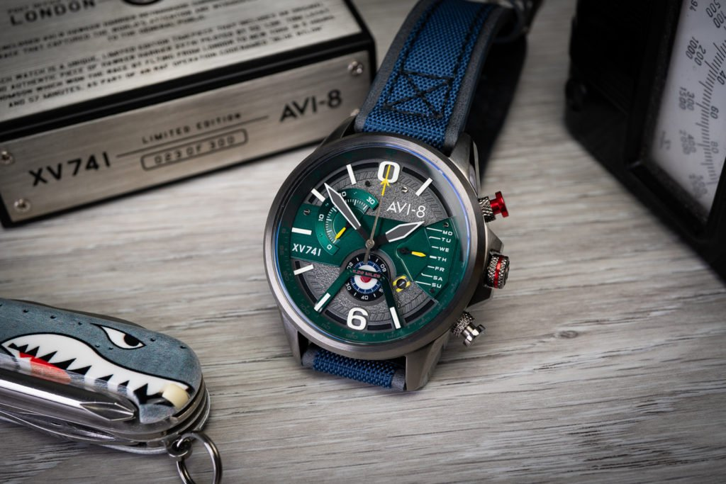 Instrumententafel Uhr Chrono AVI-8 Hawker Harrier