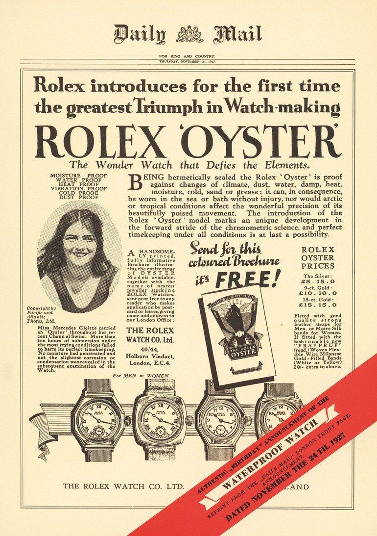 Rolex-Oyster-Mercedes-Gleitze-1927