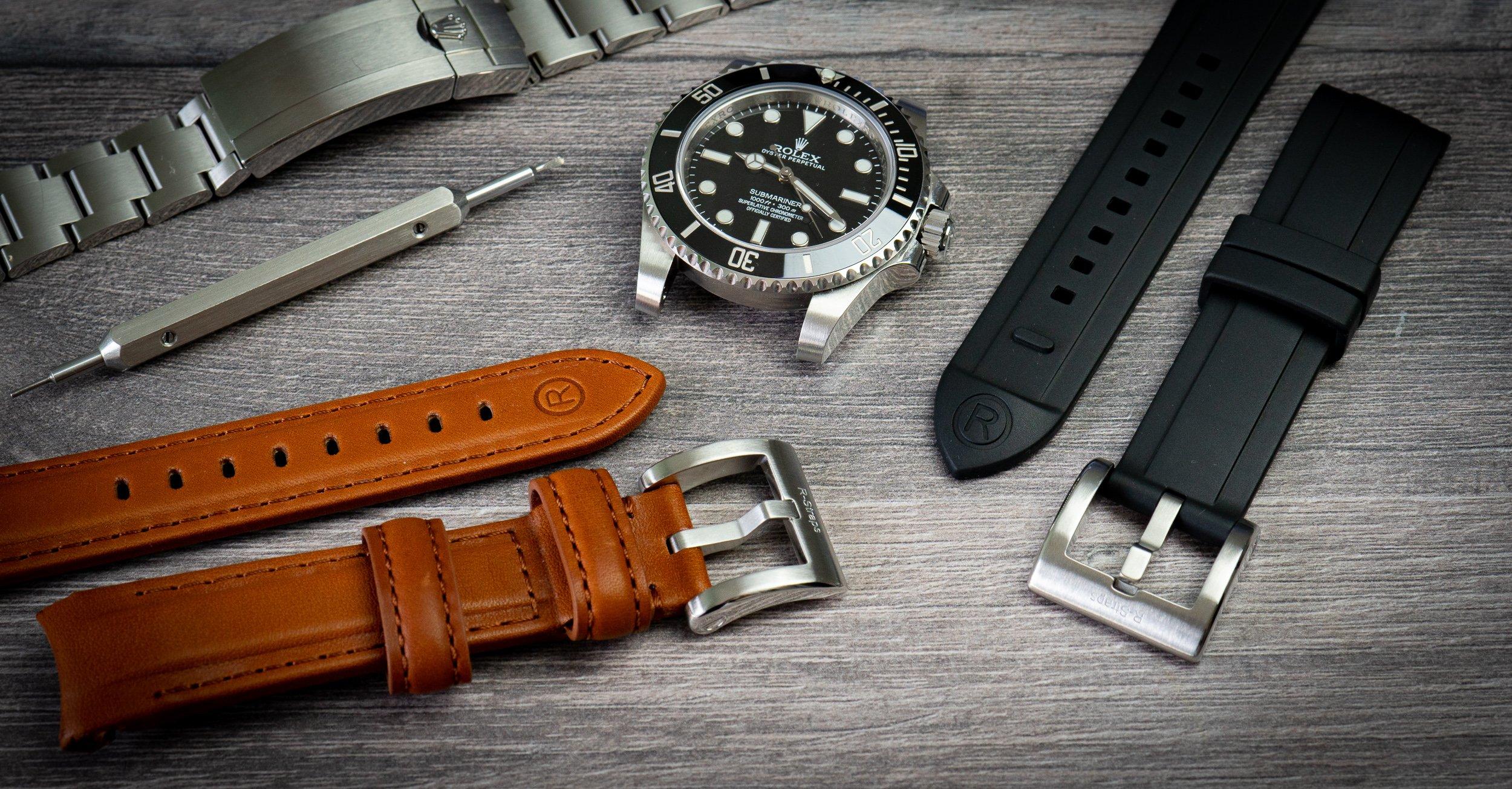 Read more about the article Rolex-Armbänder: Kautschuk- und Lederarmband von R-Straps im Test
