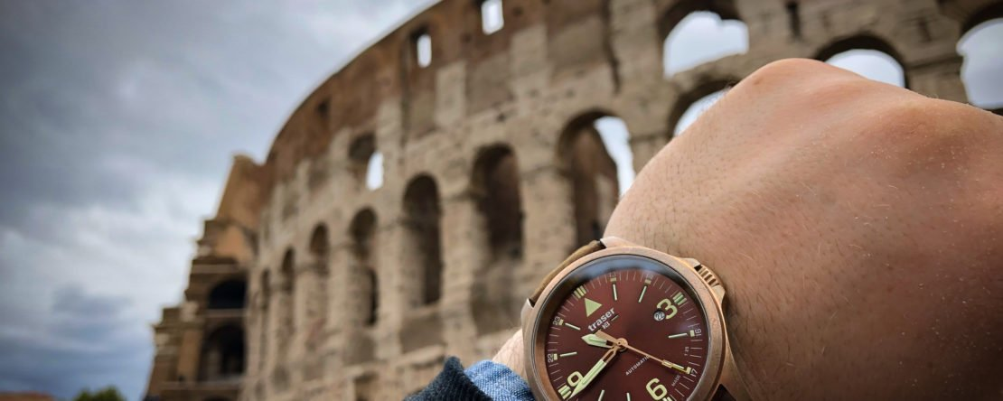 traser P67 Officer Pro Automatic Bronze Colosseo Außen