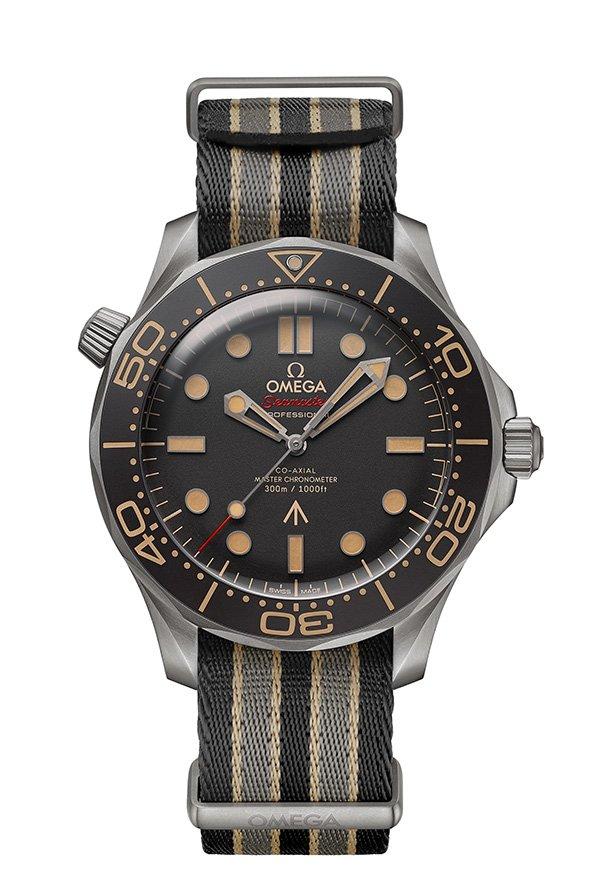 James-Bond-Uhr-007-Keine-Zeit-zu-Sterben-Film-Omega-Seamaster-Nato-Band