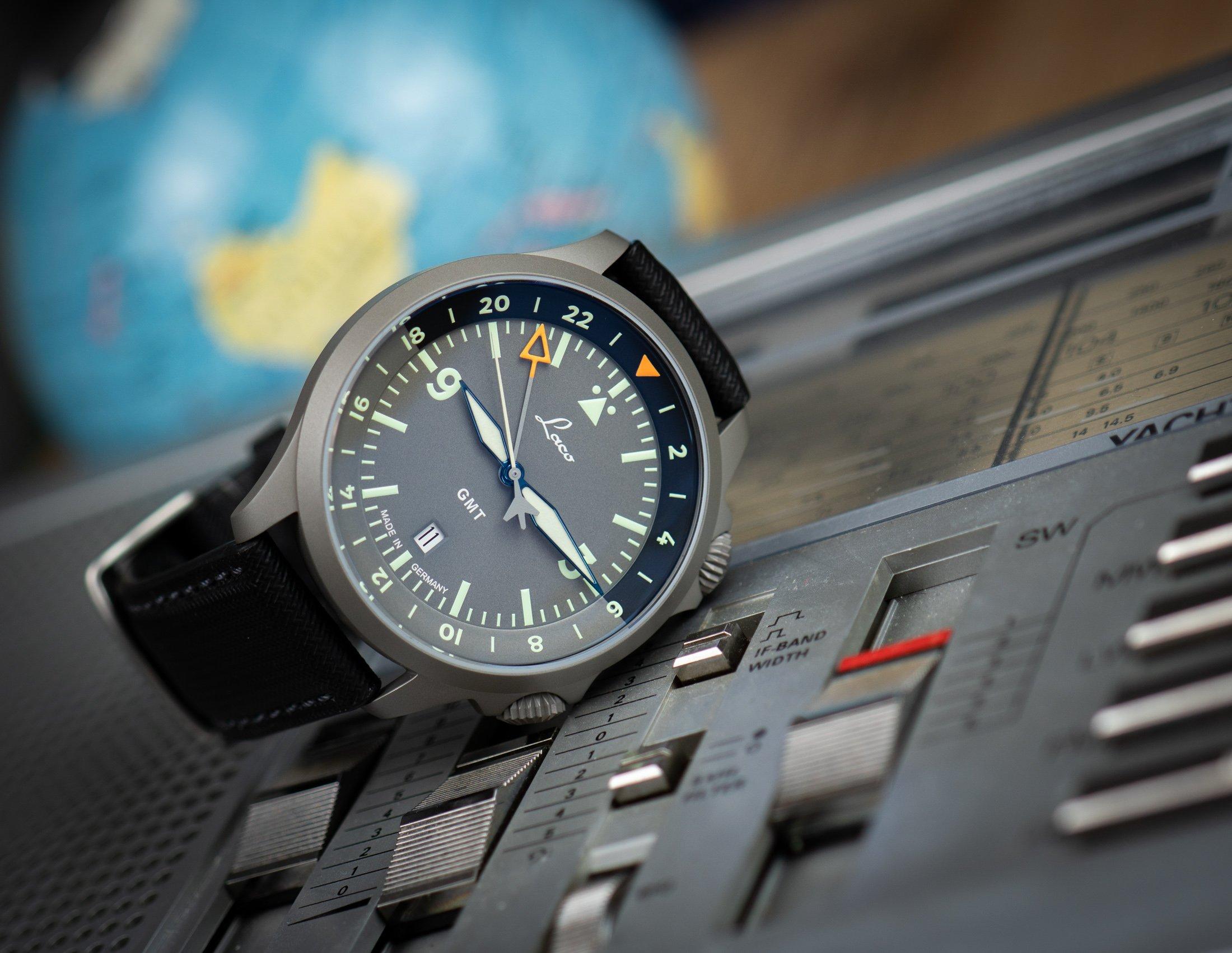 Laco-Fliegeruhr-Frankfurt-GMT-Sondermodell