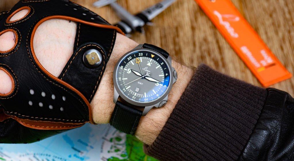 Laco-Frankfurt-GMT-Uhr-Handgelenk-Größe-43mm