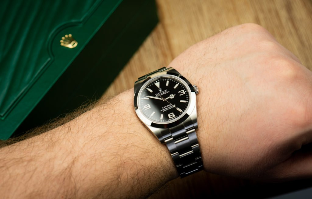 Rolex explorer I Handgelenk Größe 39 mm Durchmesser