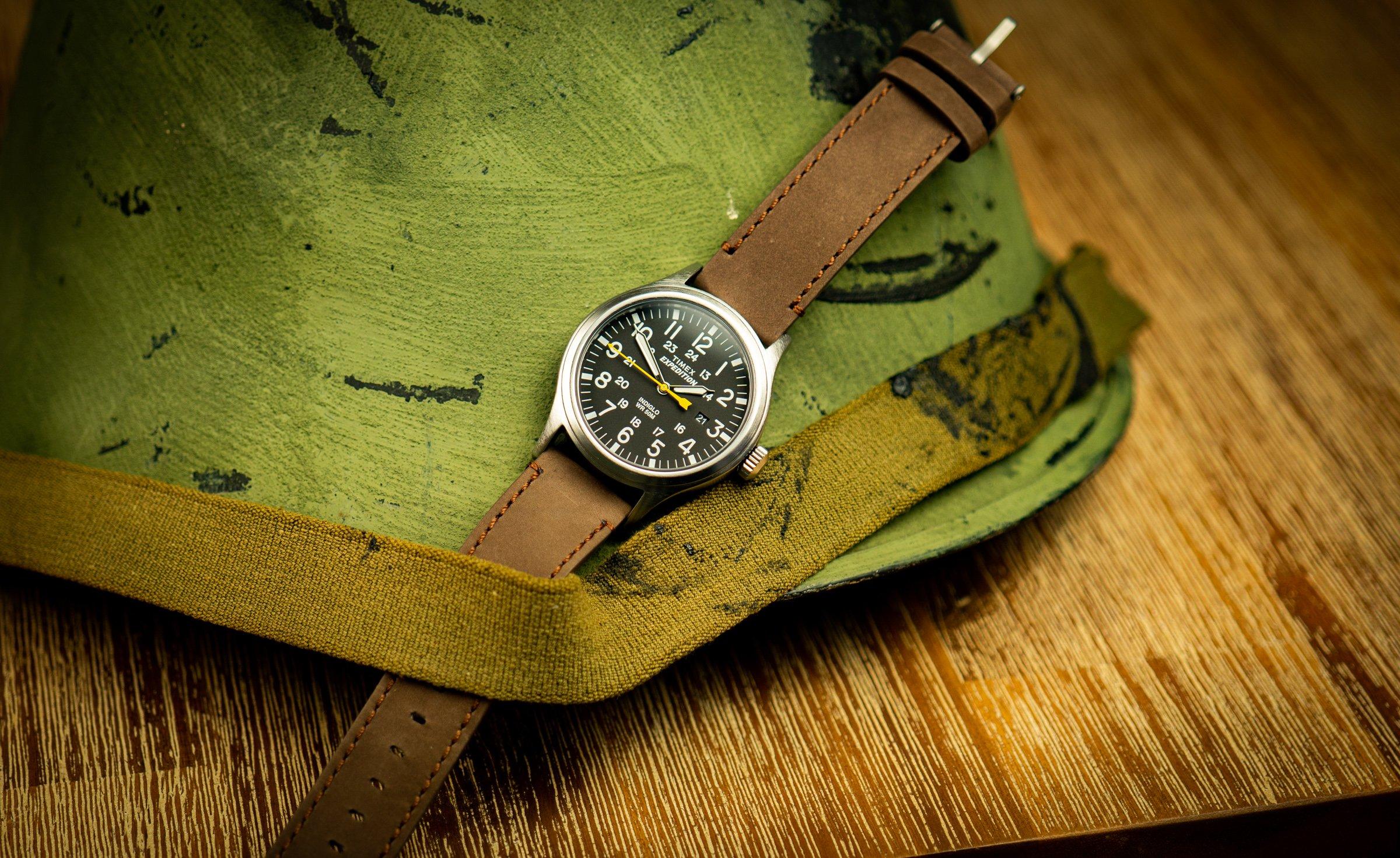 Timex-Expedition-Scout-Militär-Uhr-Field-Watch