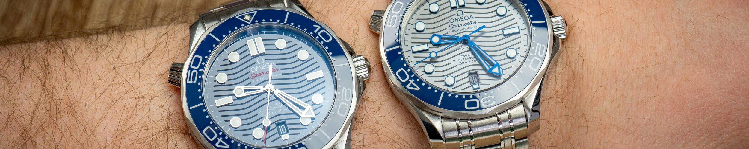 Omega-Seamaster-300m-graues-vs.-blaues-Zifferblatt-Keramik