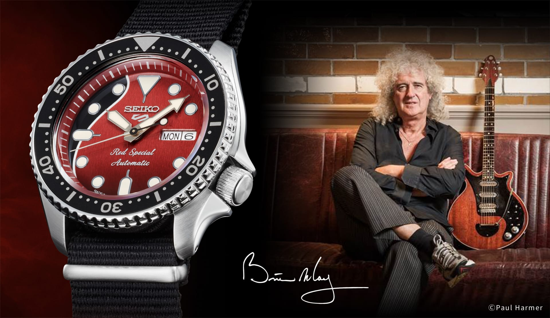 """Read more about the article We will Rock you!? Seiko Brian May """"Red Special"""" (SRPE83K1) – limitiert und knackig-teuer"""