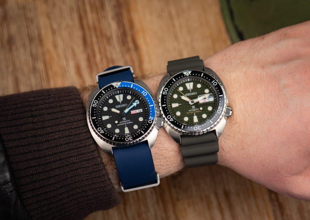 Seiko-King-Turtle-vs.-normale-Turtle-Größe-45-mm-Durchmesser