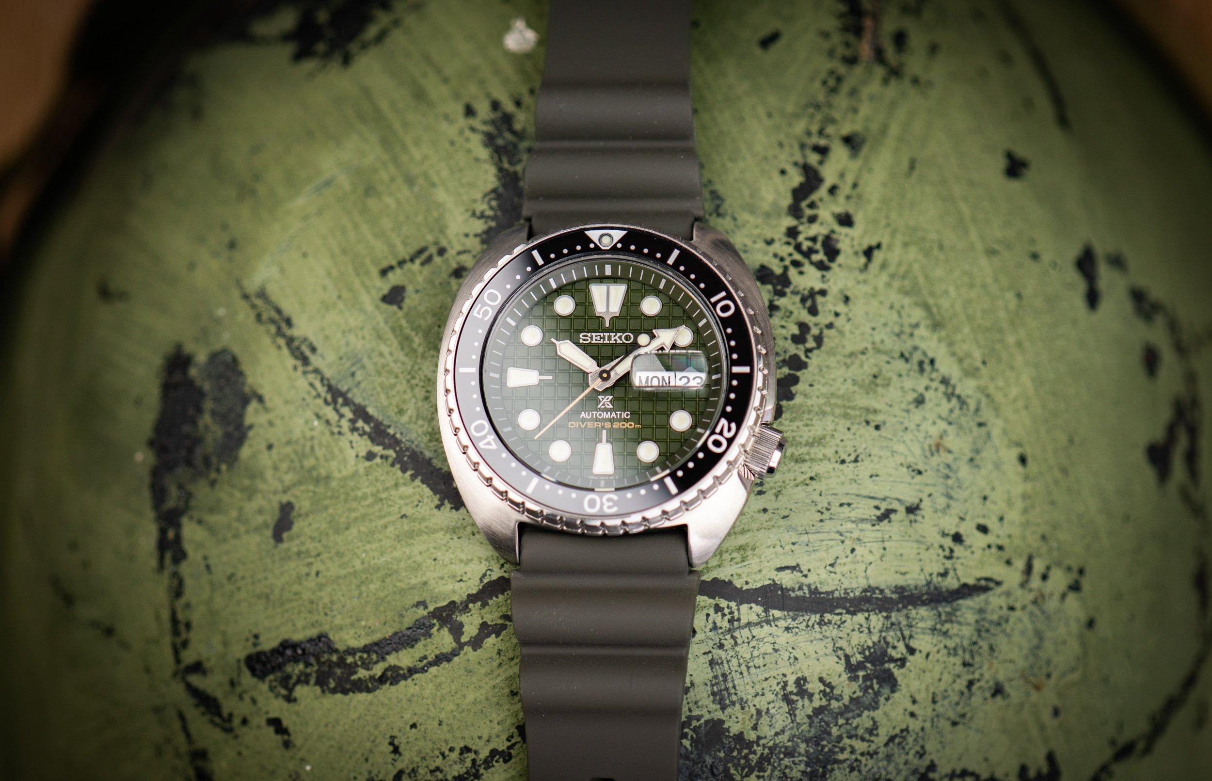 Seiko-Prospex-Diver-200m-King-Turtle-2020-Militäruhr-olivgrün-Saphirglas-Keramik-Test