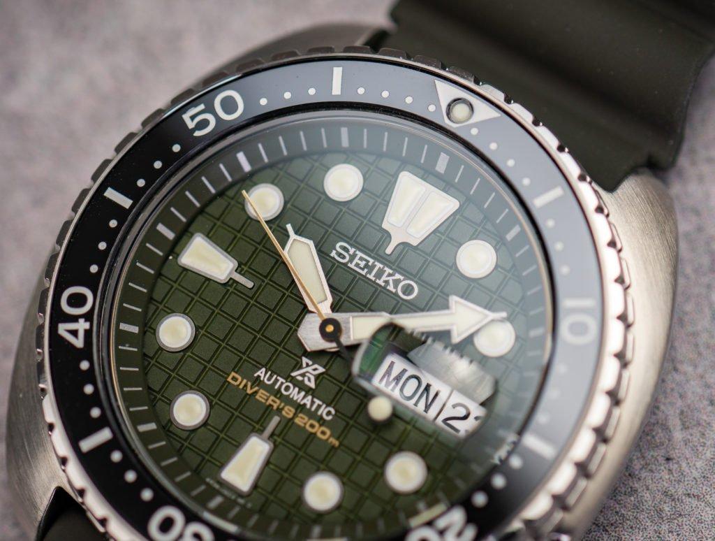Seiko Prospex Diver 200m King Turtle 2020 grün Waffel