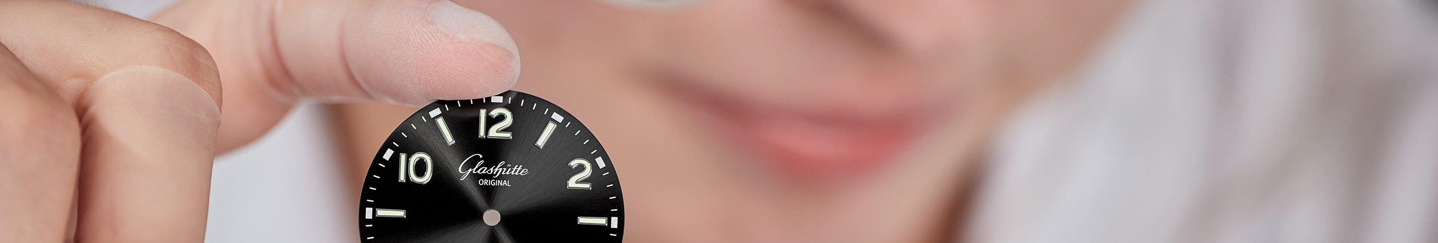 Zifferblatt Glashütte SeaQ Taucher Uhr
