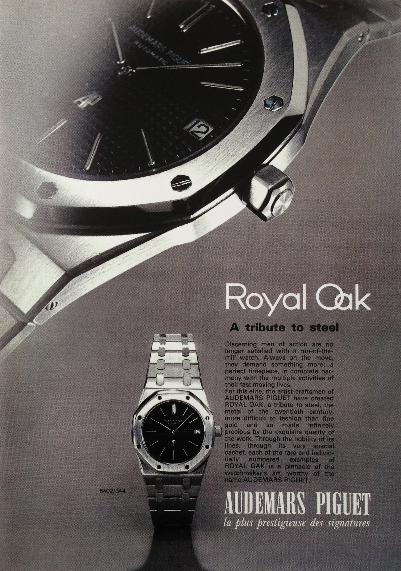 Audemars-Piguet-Royal-Oak-Vintage-Anzeige-Reklame-erste