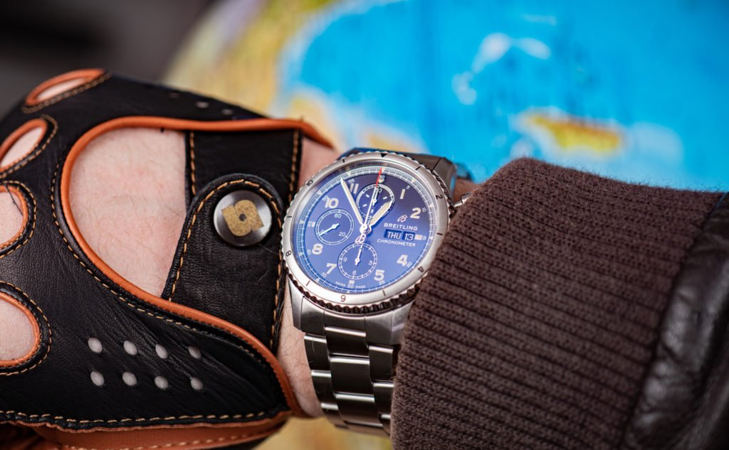 Breitling-Aviator-8-Chronograph-43-Wrist-Shot