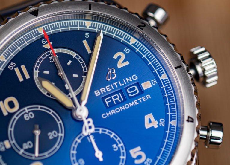 Breitling Chronograph Blaues Zifferblatt